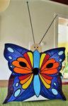 """Houten Nestkastje , """"Nestkastjes in vorm van Vlinder , Details, Vogelhuisje bouwen ,  vogelhuisje vlinder eindresultaat_2"""