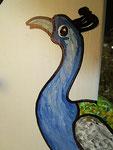 Houten Nestkastje, Nestkastje met Pauw, Details, Vogelhuisje bouwen ,  vogelhuisje met pauw