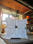 """Houten Nestkastje , """"Nestkastjes in vorm van Vlinder , Details, Vogelhuisje bouwen ,  vogelhuisje vlinder in de maak_1"""