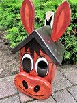 """Houten Nestkastje , """"Nestkastjes in vorm van Ezel , Details, Vogelhuisje bouwen , ezel - vogelhuisje"""