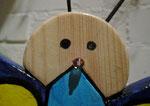 """Houten Nestkastje , """"Nestkastjes in vorm van Vlinder , Details, Vogelhuisje bouwen ,  vogelhuisje vlinder kop, close up"""