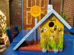 Houten Nestkastje voor Pindakaas pot , Nestkastje, thema, Bijen,Vogelhuisje bouwen, vogelhuisje pindakaas pot , bijen-huisje_11