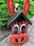 """Houten Nestkastje , """"Nestkastjes in vorm van Ezel , Details, Vogelhuisje bouwen , ezel kop_1"""