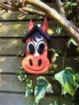"""Houten Nestkastje , """"Nestkastjes in vorm van Paard , Details, Vogelhuisje bouwen ,  vogelhuisje paard is bezet !"""