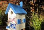 """Houten Nestkastje , """"Nestkastje met Grieks Bistrootje , Details, Vogelhuisje bouwen , vogelhuisje met Grieks Bistrootje, Huisjes details_9"""