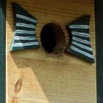 Houten Nestkastje, Nestkastje woudgroen met plat Dak, Details, Vogelhuisje bouwen, vogelhuisje woudgroen met plat dak_10