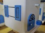 Houten Nestkastje,  Deuren en Ramen Grieks Nestkastje , Details, Vogelhuisje bouwen ,  deuren en ramen Grieks vogelhuisje _6