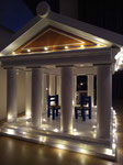 houten sfeerlicht groot led houder Grieks Griekenland Acropolis vogelvoederhuisje leuk uniek