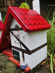 Houten Nestkastje voor Pindakaas pot , Nestkastje, thema, Vakwerk,Vogelhuisje bouwen, vogelhuisje pindakaas pot , vakwerkhuisje_17