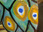 Houten Nestkastje, Nestkastje met Pauw, Details, Vogelhuisje bouwen ,  vogelhuisje met pauw_3
