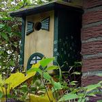 Houten Nestkastje, Nestkastje woudgroen met plat Dak, Details, Vogelhuisje bouwen, vogelhuisje woudgroen met plat dak_2
