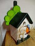 Houten Nestkastje, Nestkastje met IJsvogel, Details, Vogelhuisje bouwen ,  vogelhuisje met ijsvogel _8