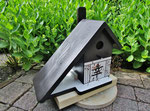 Houten Nestkastje voor Pindakaas pot , Nestkastje, thema, Geluk &Liefde,,Vogelhuisje bouwen, vogelhuisje pindakaas