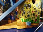 Houten Nestkastje voor Pindakaas pot , Nestkastje, thema, Vlinder, Vogelhuisje bouwen, vogelhuisje pindakaas pot, vlinder-huisje_9