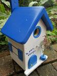 Houten Nestkastje , Grieks Nestkastje met Tekst , Details, Vogelhuisje bouwen ,  Grieks vogelhuisje met tekst , Huisjes details_8