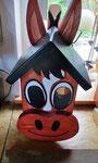 """Houten Nestkastje , """"Nestkastjes in vorm van Paard , Details, Vogelhuisje bouwen , in de maak_1"""
