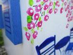 """Houten Nestkastje , """"Nestkastje met Grieks Bistrootje , Details, Vogelhuisje bouwen , vogelhuisje met Grieks Bistrootje, Huisjes details_19"""