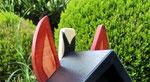 """Houten Nestkastje , """"Nestkastjes in vorm van Paard , Details, Vogelhuisje bouwen , dak met oren"""
