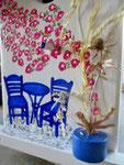 """Houten Nestkastje , """"Nestkastje met Grieks Bistrootje , Details, Vogelhuisje bouwen , vogelhuisje met Grieks Bistrootje, Huisjes details_11"""