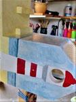 Houten Nestkastje voor Pindakaas pot , Nestkastje, thema, Strand, Vogelhuisje bouwen, vogelhuisje pindakaas pot , strand-huisje