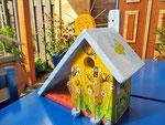 Houten Nestkastje voor Pindakaas pot , Nestkastje, thema, Bijen,Vogelhuisje bouwen, vogelhuisje pindakaas pot , bijen-huisje_20