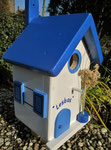 Houten Nestkastje , Grieks Nestkastje met Tekst , Details, Vogelhuisje bouwen ,  Grieks vogelhuisje met tekst , Huisjes details