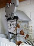 """Houten Nestkastje , """"De Olifant"""", Details, Vogelhuisje bouwen, Vogelhuisje cadeau, zijkant rechts"""