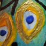 Houten Nestkastje, Nestkastje met Pauw, Details, Vogelhuisje bouwen ,  vogelhuisje met pauw_15