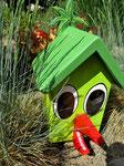 """Houten Nestkastje , """"Nestkastjes in vorm van Vogel groen , Details, Vogelhuisje bouwen als Vogel_1"""