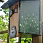 Houten Nestkastje, Nestkastje woudgroen met plat Dak, Details, Vogelhuisje bouwen, vogelhuisje woudgroen met plat dak_7