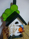 Houten Nestkastje, Nestkastje met IJsvogel, Details, Vogelhuisje bouwen ,  vogelhuisje met ijsvogel _5