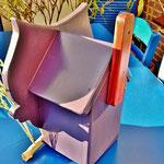 """Houten Nestkastje , """"Nestkastjes in vorm van een Uil, Details, Vogelhuisje bouwen ,  vogelhuisje Uil eindresultaat, achterkant"""