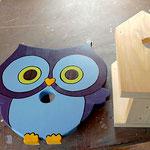 """Houten Nestkastje , """"Nestkastjes in vorm van een Uil, Details, Vogelhuisje bouwen ,  vogelhuisje Uil in de maak_2"""