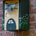 Houten Nestkastje, Nestkastje woudgroen met plat Dak, Details, Vogelhuisje bouwen, vogelhuisje woudgroen met plat dak_9