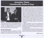 """Médusés à Sambreville, Anhée et Ciney - Bibloc - Francine Boulanger - Brigitte Chanson. Parution du """"Journal des Bibliothécaires"""""""