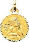 Médaille ange, or jaune 18 carats.