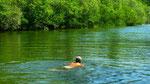 erfrischendes Bad im Cetina-Fluß