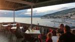 schönes Restaurant mit Blick auf unseren Stellplatz