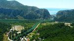 Blick auf Cetina im Mündungsbereich