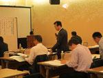 右城技術委員長から、技術士一次試験の受験対策講習会、公共事業の品質確保講習会、擁壁工指針に基づく計算演習講習会、東日本大震災の現地調査について報告があった。