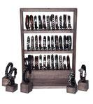 Standdisplay im Vintage-Wood-Look für 30 Armbänder- / Uhren und 5 Einzelaufsteller (Standfläche: ca 30x18cm | Höhe: ca. 40cm)
