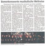 Jübiläumskonzert 20 Jahre Jazzchor in Achim