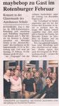 Achimer Jazzkollektiv als Vorgruppe zu Maybebop in Rotenburg