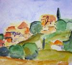 Aquarell 2014, Bonnieux, Provence 30x30