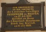 Zur Erinnerung an die Gründung der ersten deutschen freiwilligen Feuerwehr am 17. Juli 1841 in Meissen