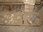 Fundstücke die bei der Renovierung des Turmes gefunden wurden.