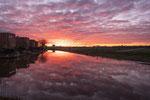 Ondergaande zon Steenwijk
