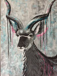 Kudu Acryl gemengde techniek op doek 60 x 80 cm