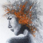 Acryl op doek 90 x 90 cm, Prijs op aanvraag