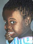 Afrikaans meisje Acryl op doek 60 x 80